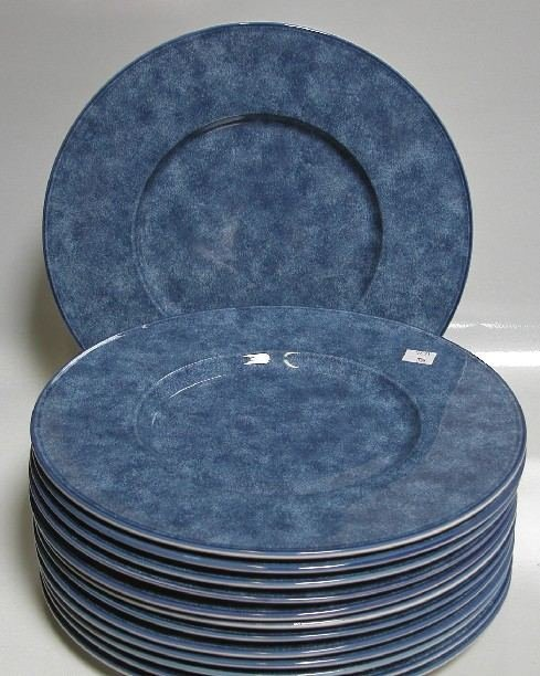 & 3024: SET OF THIRTEEN CHRISTOFLE PLATES All mottled bl